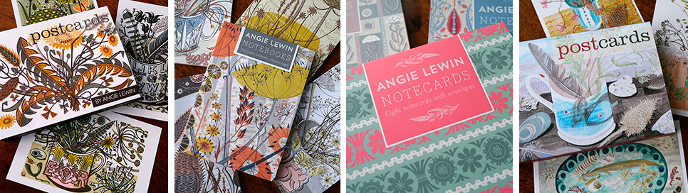Angie Lewin Art Angels Printmaker Greeting Cards