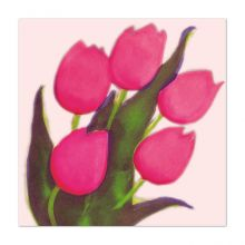 Pink Tulips - Susie Perring Greeting Card