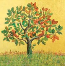 Marcelle Milo-Gray Oak with Red Squirrels