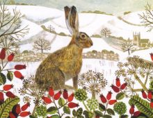 Vanessa Bowman Hare in the Snow