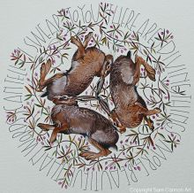 Three hares By Sam Cannon