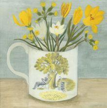 Debbie George Ravilious Cup and Spring Flowers