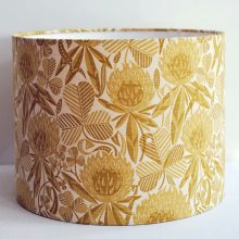 Clover Honey Handmade Drum Lampshade in St Jude's Clover fabric by Angie Lewin