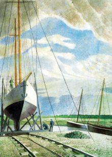 Eric Ravilious Boatyard, June 1938
