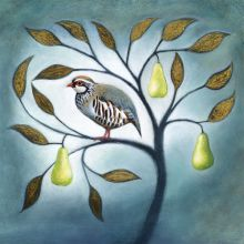 A partridge in a pear tree Greeting Card by Ruth Molloy