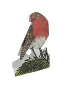 Garden Robin 3D by Judy Lumley Prints