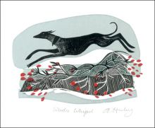 Winter Whippet  by Angela Harding