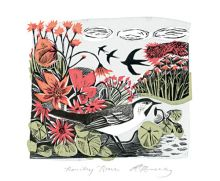 Heading Home lithograph by Angela Harding Art Greeting Card