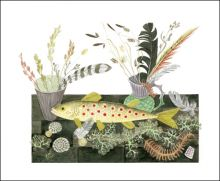 Emily's Fish Watercolour by Angie Lewin Art Greeting Card