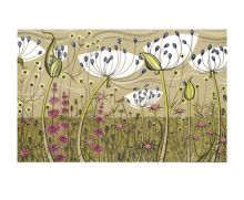 Agapanthus lithograph - Angie Lewin Art Greeting Card