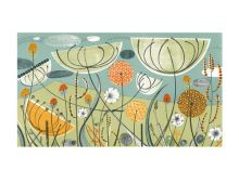 Alliums and Fennel lithograph - Angie Lewin Art Greeting Card