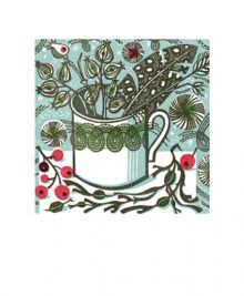 Winter Persephone' wood engraving Greeting Card by Angie Lewin