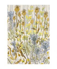 Stony Path screenprint Greeting Card by Angie Lewin