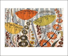 Spey Birches screenprint by Angie Lewin Art Greeting Card