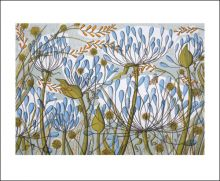 Agapanthus II Greeting Card screen print by Angie Lewin