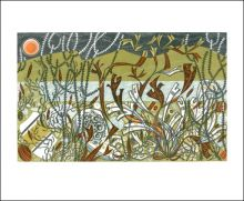 Northern Shore  Linocut by Angie Lewin