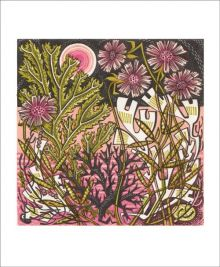 Sea Pinks Wood Engraving by Angie Lewin