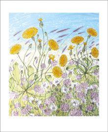 Saltmarsh, Morston  Screenprint by Angie Lewin