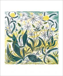 Sollas Sands Linocut by Angie Lewin