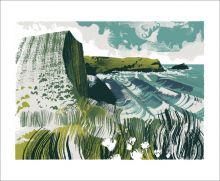 North Cornish Coast Silkscreen print by Andy Lovell