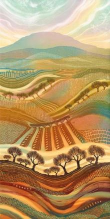 Autumn Splendour Giclee print from original monotype by Rebecca Vincent