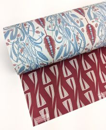 Meadow's Edge double sided giftwrap designed by Angie Lewin