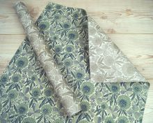 Clover double sided giftwrap designed by Angie Lewin