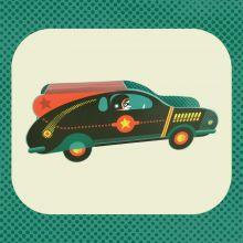 Racer Die cut Racer by Tom Frost