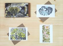 Postcard Box from Wood Engravings by Angie Lewin