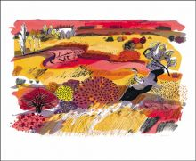 Pink River screeenprint - Carry Akroyd Art Greeting Card