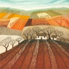 Ploughed Earth - Rebecca Vincent Greeting Card