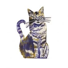 Cat d Greeting Card by Judy Lumley