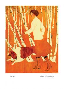 Birches By Clarence Coles Phillips(1880-1927)