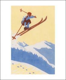Gerlandersprung, c.1932  Linocut by Colin Wyatt