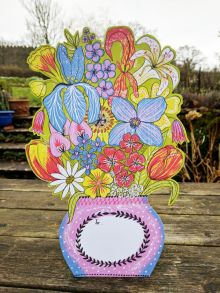 Flowers For You stand up card Artist: Alice Pattullo