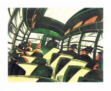 The Sunshine Roof, c.1934. lithograph by Cyril Power Art Greeting Card