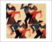 Folk Dance, c.1932, linocut by Cyril Power (1874-1955)
