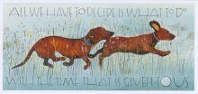 Dachshunds Art Card By Sam Cannon