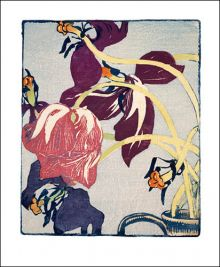 Tulips  Woodcut print by Mabel Royds (1874 - 1941)