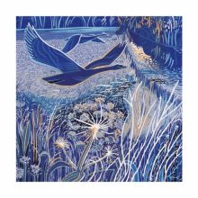 December Chill Greeting Card by Annie Soudain (