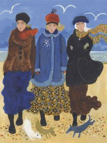 A Winter's Day Sprint - Dee Nickerson Greeting Card