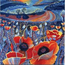 Dusk LINOPRINT GREETING CARD BY ANNIE SOUDAIN