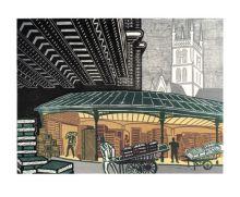 Borough Market c1967 Linocut - Edward Bawden Art Greeting Card
