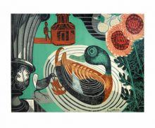 Kew Gardens 1936 linocut - Edward Bawden Art Greeting Card