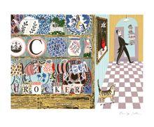 'C' for Crockery screenprint - Emily Sutton Art Greeting Card