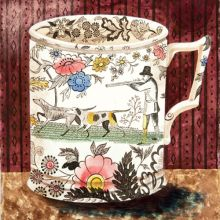 Victorian Crockery 'The Shoot' Watercolour by Emily Sutton