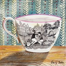 Victorian Crockery 'Boys Fishing' Watercolour by Emily Sutton