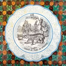 Victorian Crockery 'Chasse au Tigre' Watercolour by Emily Sutton