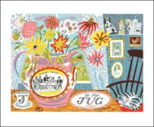 J is for Jug Screenprint by Emily Sutton