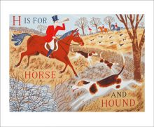 H is for Horse and Hound  Screenprint by Emily Sutton